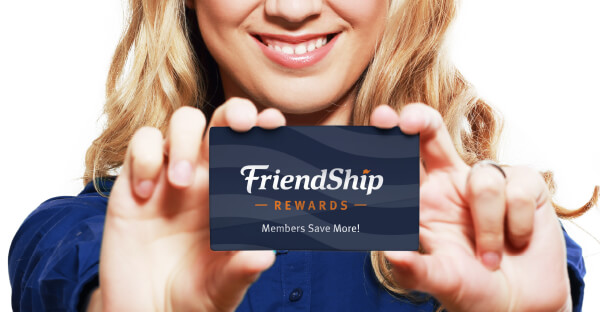 Girl with FriendShip Membership Card